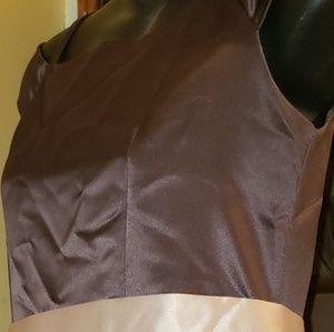CHOCOLATE BROWN FULL LENGTH GIRLS DRESS